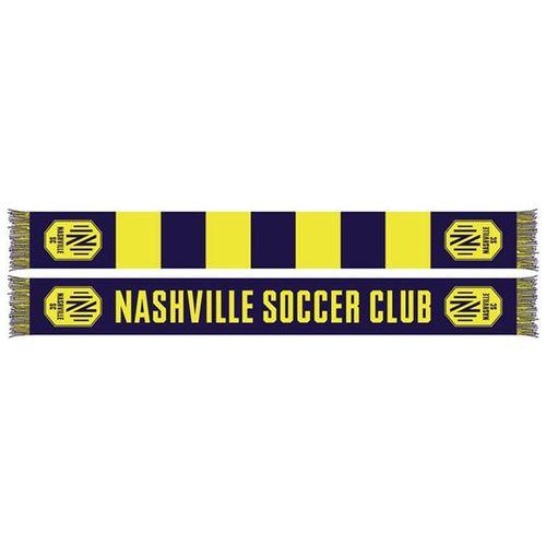Nashville Soccer Club Woven Knit Scarf (Gold/Navy)