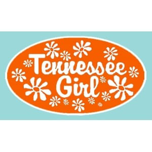 "Tennessee Volunteers 5"" Tennessee Girl Decal (Orange)"