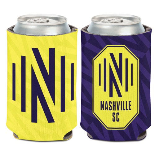 Nashville Soccer Club Double Sided Can Cooler (Navy/Yellow)