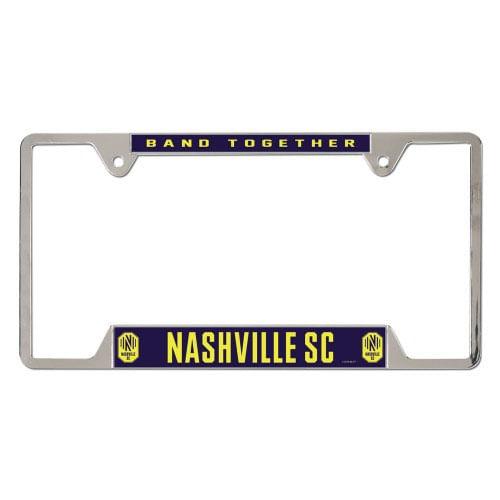 Nashville Soccer Club Metal License Plate Frame (Silver)