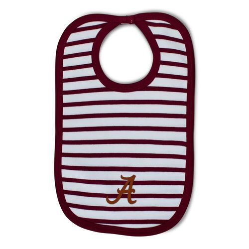Alabama Crimson Tide Striped Bib (Crimson/White)