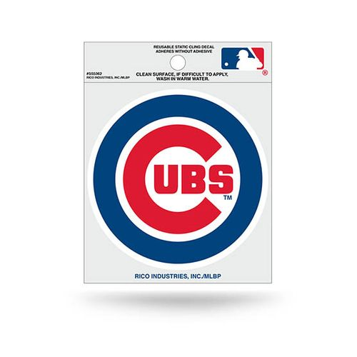 Chicago Cubs Small Static Cling Decal