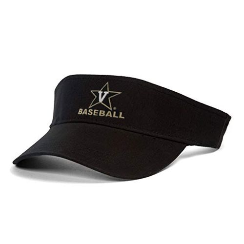 New Era Vanderbilt Commodores V-Star Baseball Visor (Black)