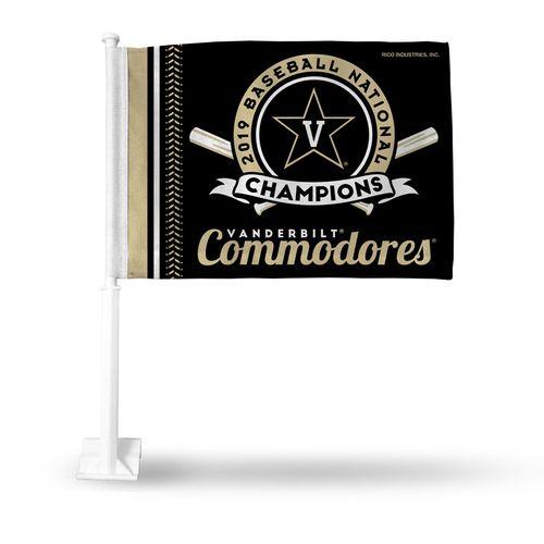 Vanderbilt Commodores World Series 2019 Champions Car Flag