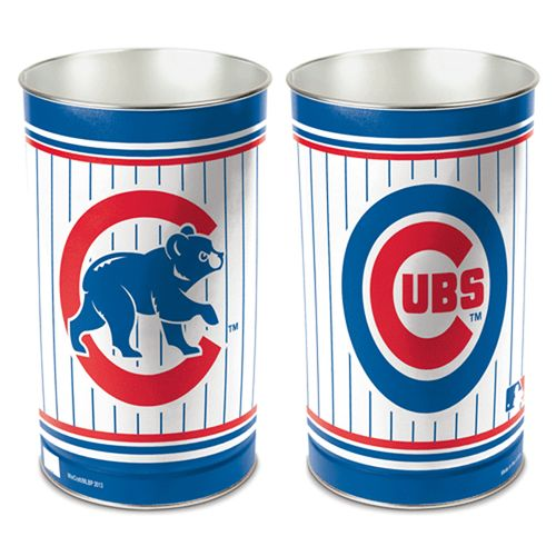 Chicago Cubs Tapered Trashcan