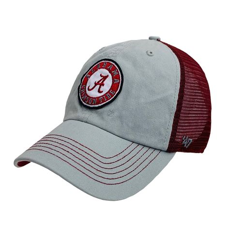 '47 Brand Alabama Crimson Tide Porter 47 Clean Up Adjustable Hat (Grey/Crimson)