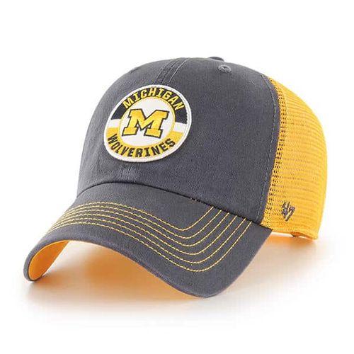 '47 Brand Michigan Wolverines Porter 47 Clean Up Adjustable Hat (Vintage Navy/Gold)