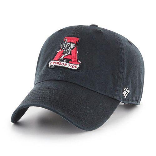 '47 Brand Alabama Crimson Tide Clean Up Adjustable Hat (Black)