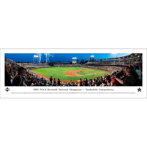 Vanderbilt Commodores World Series 2019 National Champions Unframed Panorama