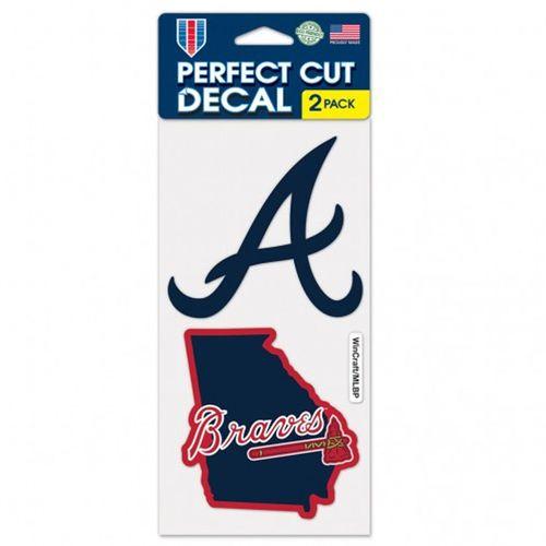Atlanta Braves 2 Pack Diecut Decals