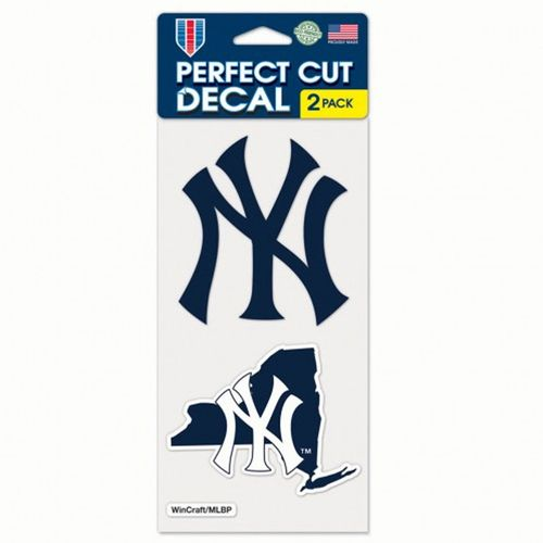 New York Yankees 2 Pack Diecut Decals With State