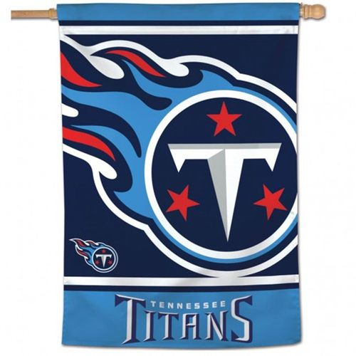 Tennessee Titans Mego Logo Vertical Flag