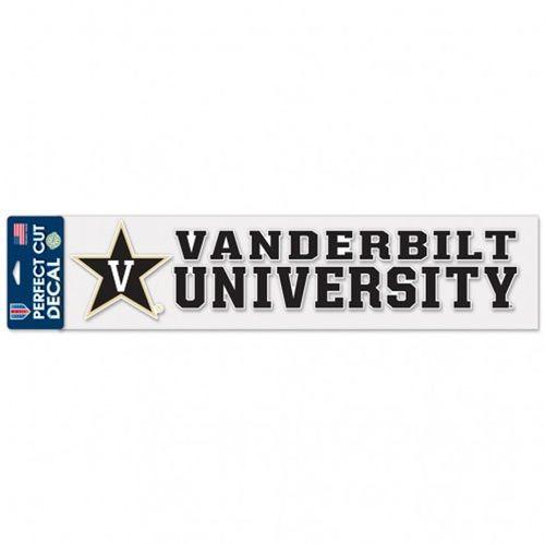 """Vanderbilt Commodores 4"""" X 17"""" Perfect Cut Decal"""