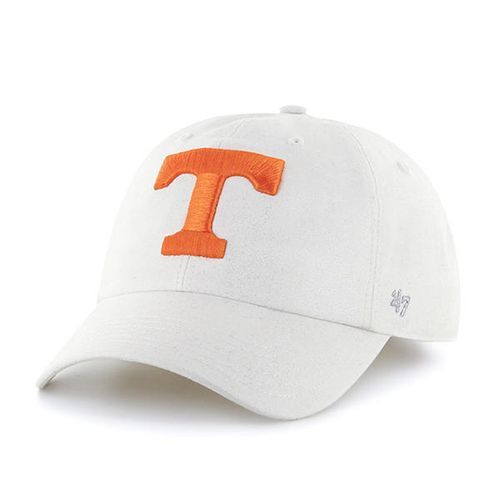 '47 Brand Women's Tennessee Volunteers Luster Clean Up Hat  (White/Orange)
