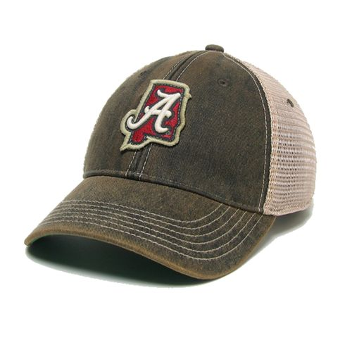 Legacy Alabama Crimson Tide State Outline Adjustable Hat (Black)