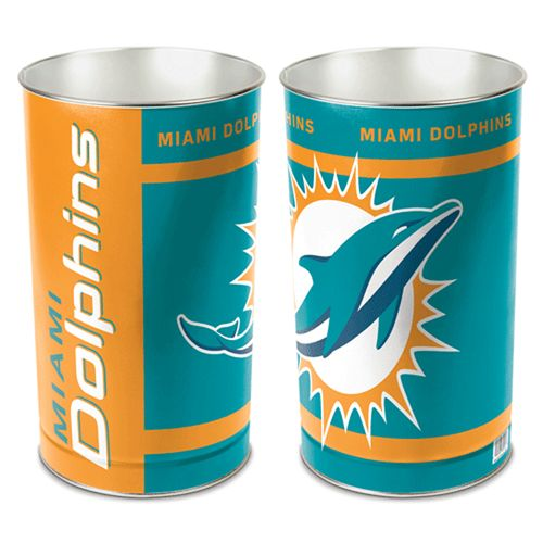 Miami Dolphins Tapered Trashcan
