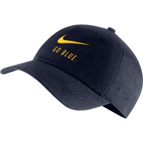 Nike Michigan Wolverines Heritage86 Swoosh Adjustable Hat (Navy)