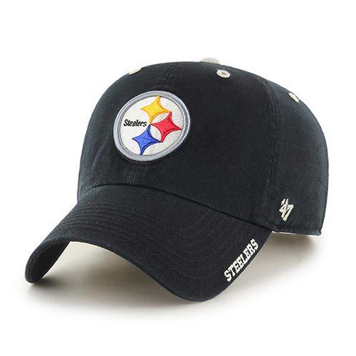 '47 Brand Pittsburgh Steelers Adjustable Clean Up Hat (Black)