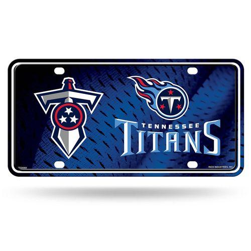 Titans Metal Car Tag