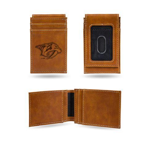 Nashville Predators Front Pocket Leather Wallet