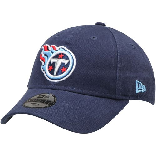 Youth New Era Tennessee Titans Core Classic Adjustable Hat (Navy)