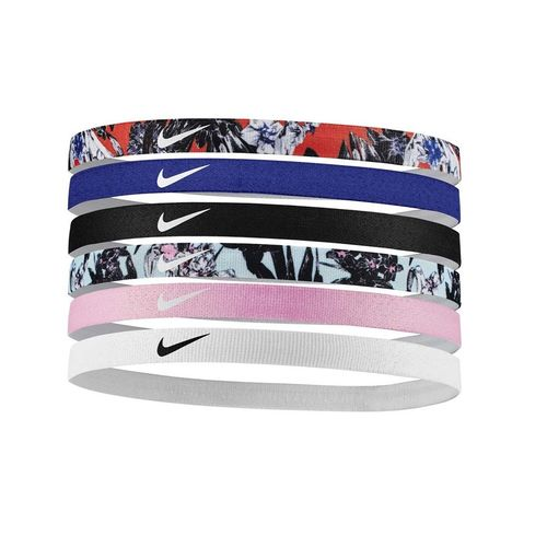 Nike Printed 6 Pack Headbands (Blue/Black)