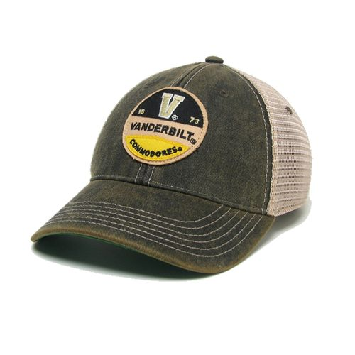Legacy Vanderbilt Commodores Pinback Trucker Est. Date Adjustable Hat (Black)