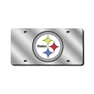 Pittsburgh Steelers Laser-Cut Acrylic License Plate
