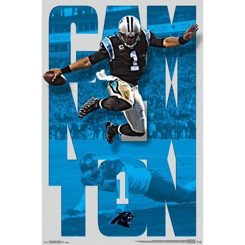 Carolina Panthers Cam Newton 2016 Poster
