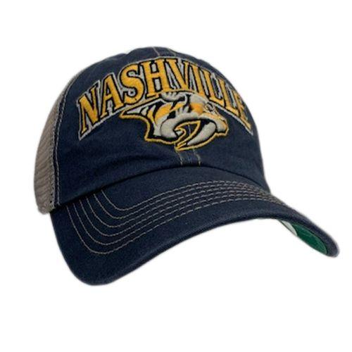 '47 Brand Nashville Predators Tuscaloosa Trucker Adjustable Hat (Vintage Navy)