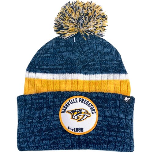 '47 Brand Nashville Predators Comb Knit Cuff Hat (Navy/Gold)