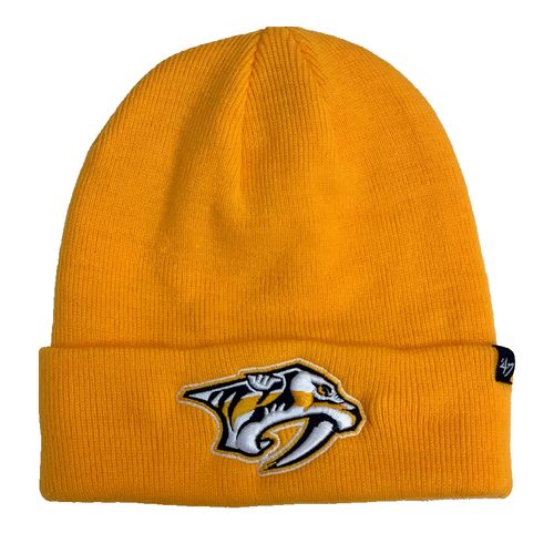 '47 Brand Nashville Predators Raised Cuff Knit Hat (Gold)