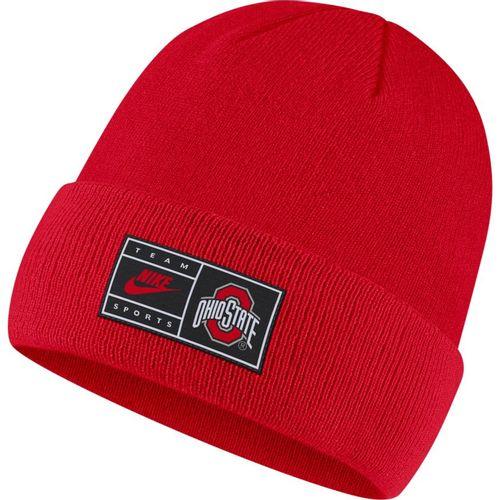 Nike Ohio State Buckeyes Cuffed Beanie Hat (Red)