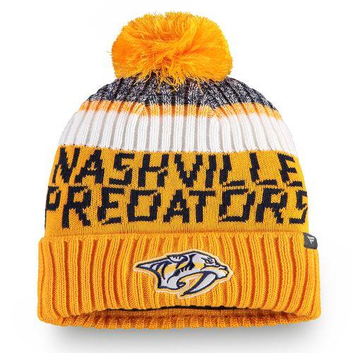 Fanatics Nashville Predators Authentic Pro Rinkside Knit Hat (Gold)