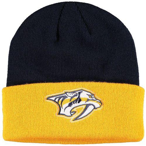 Adidas Nashville Predators Cuff Beanie Hat (Navy/Gold)