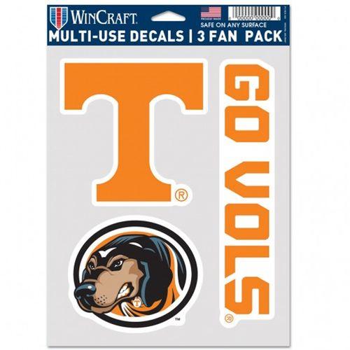 Tennessee Volunteers 3 Decal Fan Pack