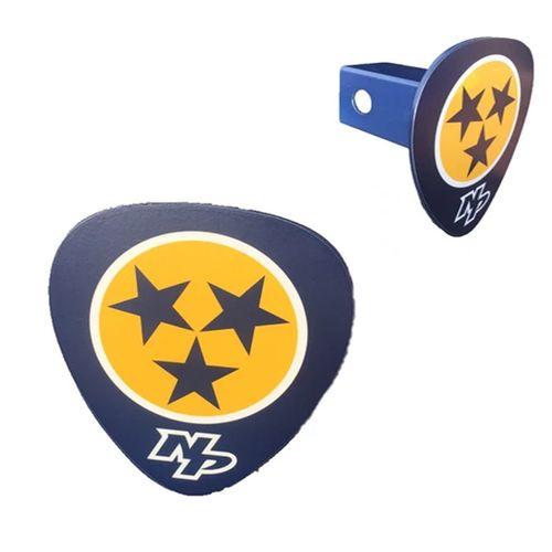 Nashville Predators Tri-Star Logo Metal Hitch Cover