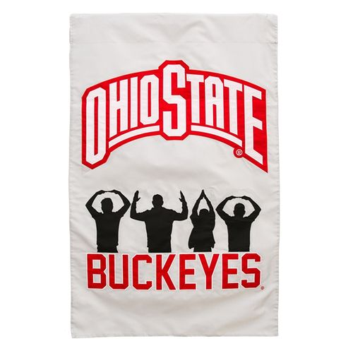Ohio State Buckeyes Flag (Grey/Red)