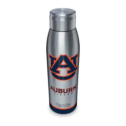 Auburn Tigers Slim Stainless Steel 17oz Tervis Water Bottle with Lid