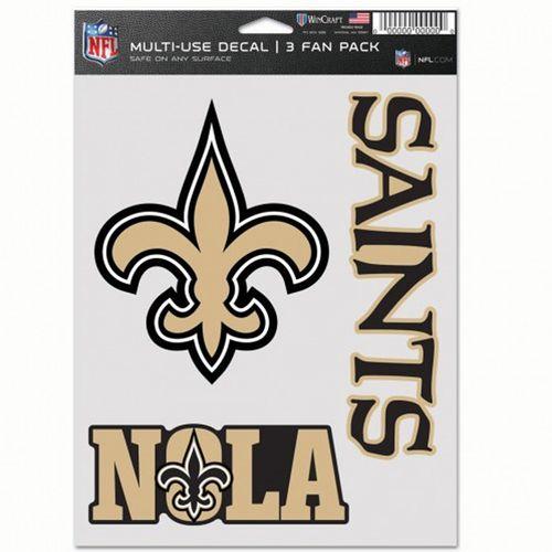 New Orleans Saints 3 Decal Fan Pack