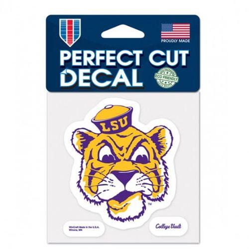 LSU Tigers Tiger Head Perfect Cut Decal
