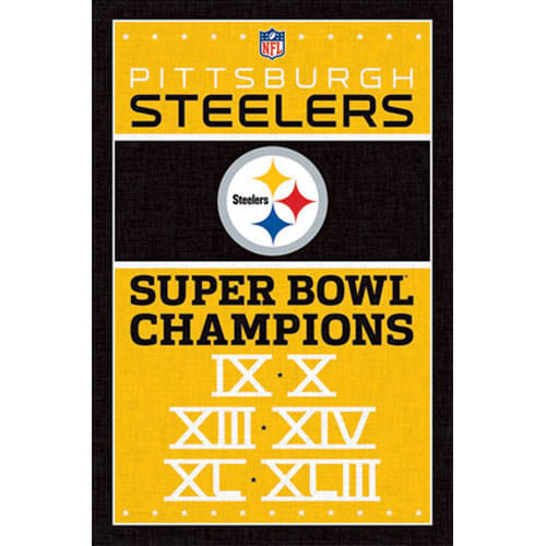 Pittsburgh Steelers Championships Poster