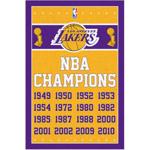 Los Angeles Lakers Championships Poster