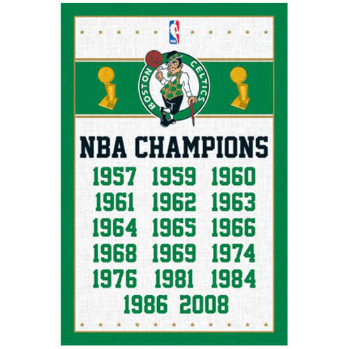 Boston Celtics Championships Poster