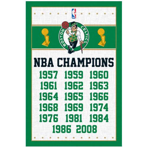 Boston Celtics Championships Poster