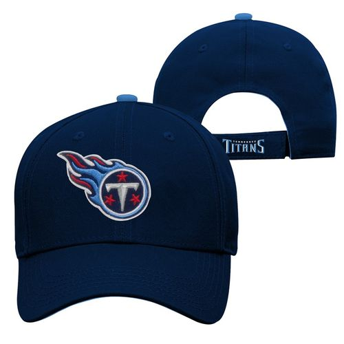 Youth Tennessee Titans Basic Structure Adjustable Hat (Navy)