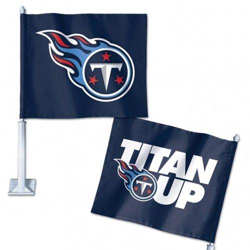 Tennessee Titans Titan Up Slogan Car Flag