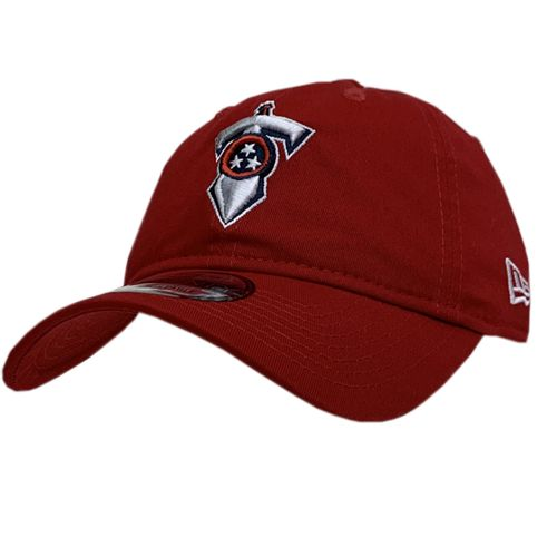 New Era Tennessee Titans Sword Logo Adjustable Hat (Scarlet)