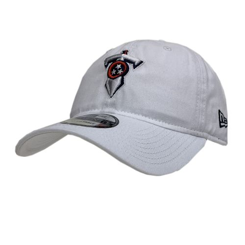 New Era Tennessee Titans Sword Logo Adjustable Hat (White)