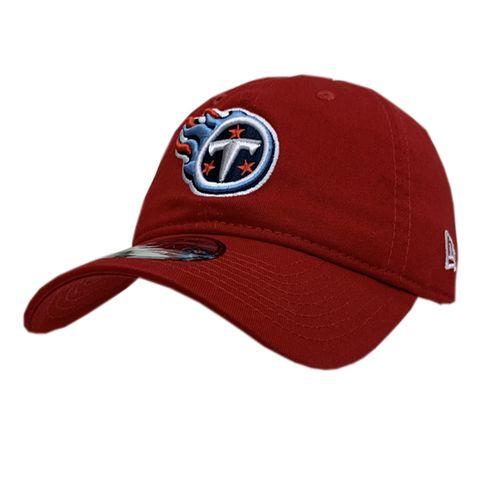 New Era Tennessee Titans Flame Logo Adjustable Hat (Scarlet)